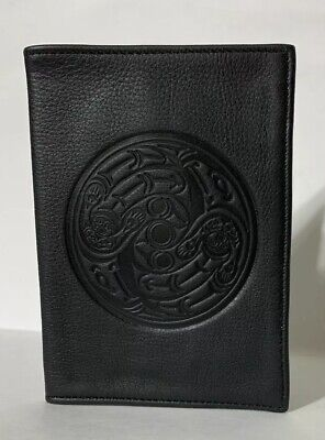 Spirit Of The Wild Black Leather Passport Holder Cover Vancouver YVR Airport