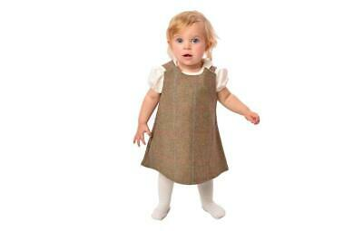 Girls Toddler Baby Tweed Pinafore and Peter Pan Blouse Outfit Set Dress Cou