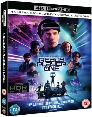 READY PLAYER ONE 4K UHD + 2D Blu-ray + Digital Download (2018) SEALED IN  SLEEVE