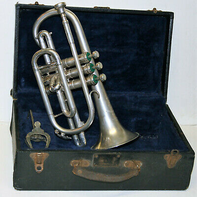 Vintage Boosey and Hawkes Regent Cornet No 478676 Made in England Original Case