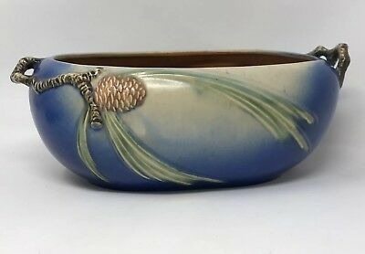 Roseville Pottery Large Blue Pinecone Jardiniere 276-9