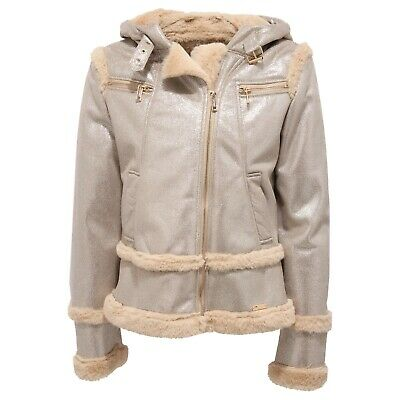 new styles d0d68 e8d31 8967Y GIUBBOTTO BIMBA girl TWIN-SET gold eco-shearling jacket