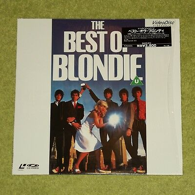 BLONDIE The Best Of - RARE 1990 JAPAN LASERDISC + HYPE STICKER (Debbie Harry)