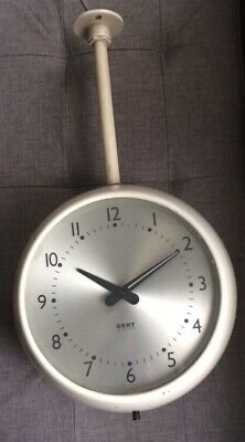 Vintage Gent Of Leicester Industrial Large Clock Bus/train Station Double Sided