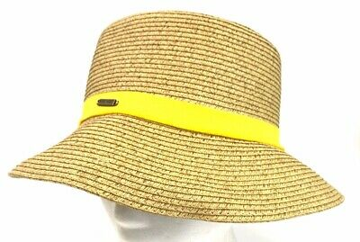 efd621dca38f6 Nine West Straw Beach Sun Hat Natural Color Packable UPF Protection One Size