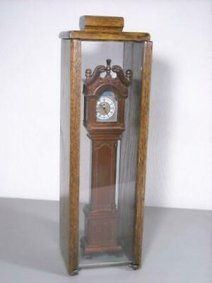 "RARE FRANKLIN MINT MINIATURE 11"" COLONIAL GRANDFATHER CLOCK w/  WOOD CASE QUARTZ"
