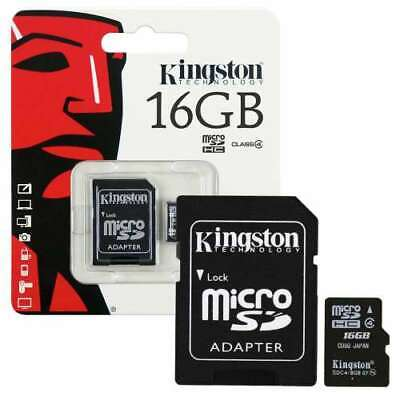 Kingston Micro SD 16GB SDHC Memory Card with SD Card Adapter Class 4