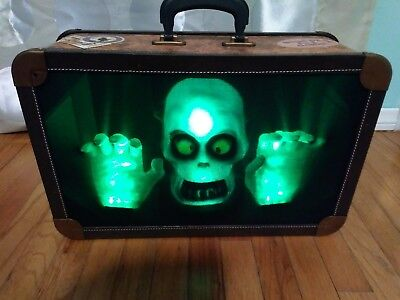 Home Accents Halloween Animated ghost Haunted Suitcase with Sounds and Lights