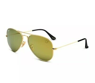 3e0064f46c Ray Ban Disney Mickey Mouse 90th Limited Edition 24K Gold Aviator Sunglasses