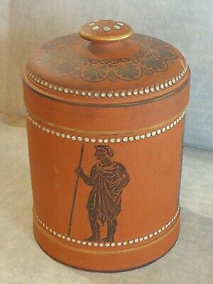 Very Rare Antique W H Goss Terracotta Tobacco Jar, 1867
