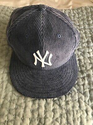 aff0406313e NEW TODD SNYDER x NEW ERA MENS NY YANKEES 7 5 8 Navy Pinstripe WOOL ...