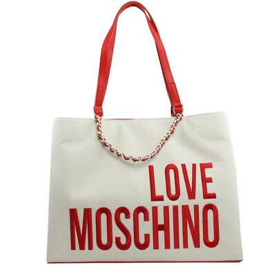 3732062ddb BORSA DONNA LOVE Moschino Shopping Bag In Canvas Naturale Jc4112 119 ...