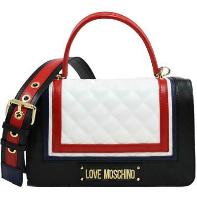 c136c3d451d26 BORSA DONNA LOVE Moschino A Tracolla Quilted Mix Bianco Multi Jc4012 ...