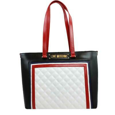 a0f73decedce5 Borsa Donna Love Moschino Shopping Bag Quilted Mix Bianco Multi Jc4013 119