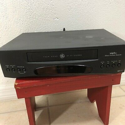 GE VCR Plus+ VG4262 Video Cassette Recorder 4-Head VHS Player Hi-Fi Stereo