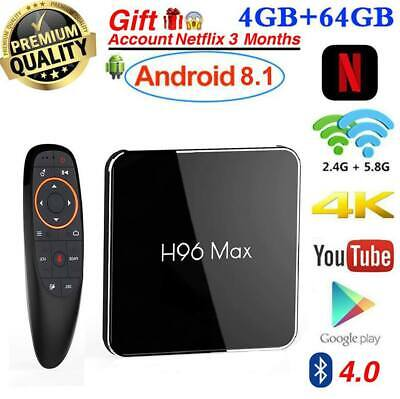 2019 TV BOX H96 MAX X2 4GB RAM 64GB Android 8.1 Smart 4K + Google Voice Control
