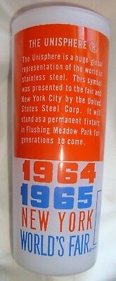 Vintage 1964 1965 New York World's Fair Glass Frosted Cup Tumbler USA Steel Corp