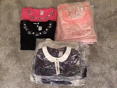 NEW Girls Short Sleeve Tops Job Lot Wholesale 24 Items