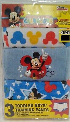 Mickey Mouse Toddler Boys Training Pants- Size 3T - 3 Packs of 3 - 9 Pairs Total