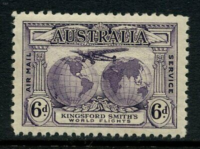 50% OFF! 1931 Kingsford Smith's Flights 6d Violet MLH SG 123 0A4