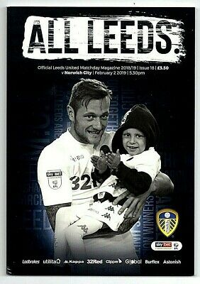 02/02/19 Leeds v Norwich City - Programme in MINT condition