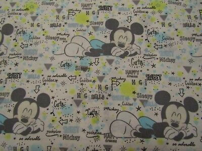 Peekaboo Mickey Mouse Disney Licensed Springs Quilting Cotton Fabric YARD