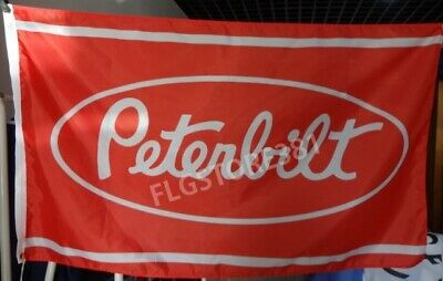 PETERBILT TRUCKS TRUCKING FLAG BANNER 3x5ft Trucker Garage Wall Decor