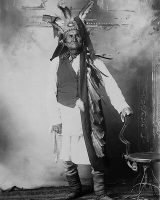 Native American Indian GERONIMO Vintage 8x10 Photo Apache War Chief Print Poster