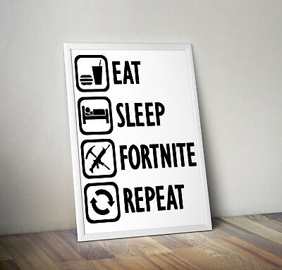 Funny FORTNITE Gaming Video Game Poster Print A3+ PLUS A3 A4 SIZE Glossy Gift