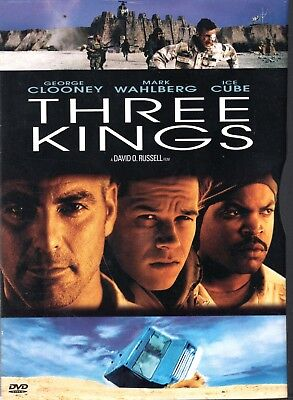 THREE KINGS  George Clooney, Mark Wahlberg, Ice Cube Like New DVD  Free Shipping