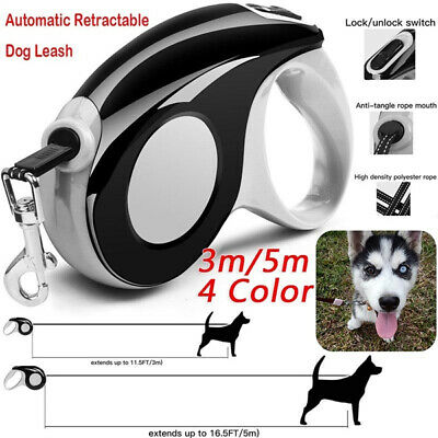 3M/5M Automatic Retractable Pet Dog cat Leash Traction Rope Lead Chain Rope