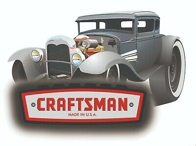 CRAFTSMAN TOOL STICKER RODSTER VINTAGE GLOSS DECAL LABEL MECHANIC TOOLBOX USA