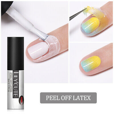 LILYCUTE 5ml Peel Off Liquid Tape White Cold-resistant Nail Art Polish Care Tool