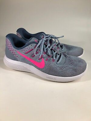 outlet store 4f546 12225 Nike Lunarglide 8 Blue Pink Running Shoes Womens Size 9.5 M