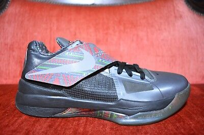 4f7f0c968677 CLEAN 2011 Nike Zoom KD IV 4 BHM Size 9 KEVIN DURANT BLACK HISTORY MONTH