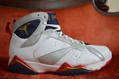 bf6d29529fa020 CLEAN NIKE AIR JORDAN 7 VII RETRO OLYMPIC 2012 304775-135 SIZE 10.5 White  Navy