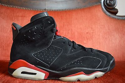 new concept 1c61a 3a770 2009 Nike Air Jordan VI 6 Retro BLACK VARSITY RED BRED 384664-061 Size 12