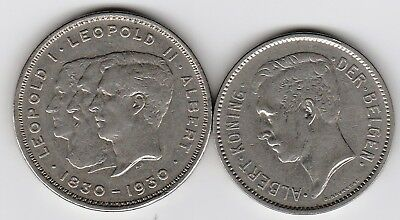2 scarce silver coins from BELGIUM