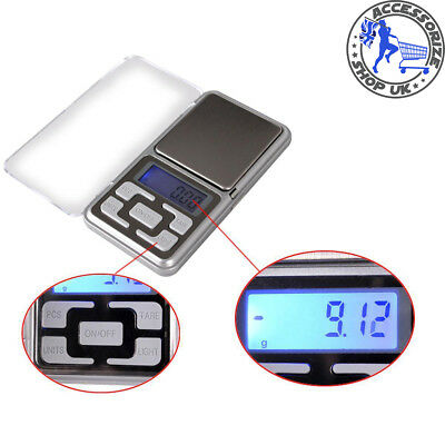 500g Pocket Digital Scale Jewellery Gold Weighing Mini LCD Electronic 0.1g Scale
