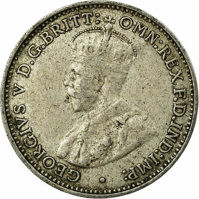 [#693216] Coin, Australia, George V, Threepence, 1935, EF(40-45), Silver, KM:24