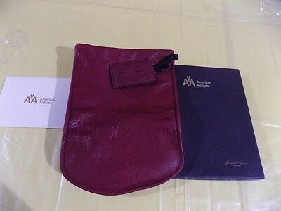 American Airlines Leather Drawstring Pouch