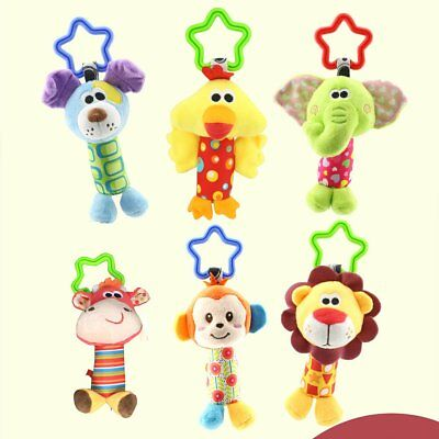 Newborn Bed Stroller Rattle Plush Baby Mobile Toy for Kids Ring Bell Crib Doll