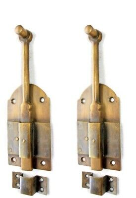 "2 flush BOLT french old age style doors furniture heavy brass slide 6"" bolts B"
