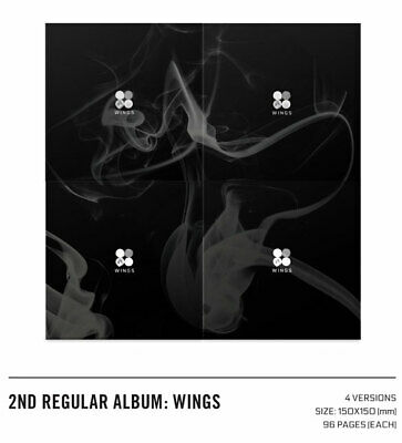 K-POP BTS 2nd Album - Wings / CD + 96p Photobook + photocard NEW [Random Cover]