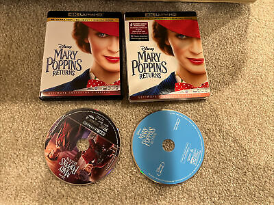 Mary Poppins Returns Disney 4K Ultra HD 1 Disc Set ( No Digital )