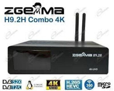 Zgemma H9.2H COMBO cable smart BOX Satellite Receiver4K UHD HEVC BUILT-IN WIFI