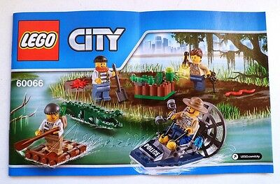 LEGO CITY !! Instructions Only !! For 60066 Swamp Police