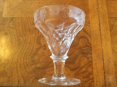 Victorian vine grape Engraved and Scale Cut Pan Top Rummer glass