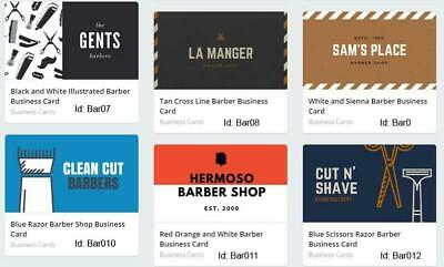 100 Barber Business Cards custom Two sided printing with free design