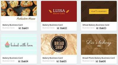 100 Bakery Business Cards custom Two sided printing with free design